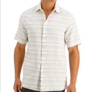 Tasso Elba Men's Corded Striped Shirt,
